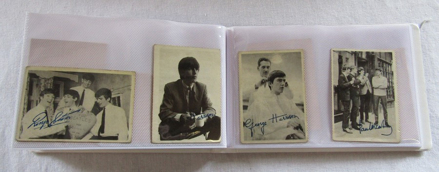 Album containing 59 The Beatles A & B C chewing gum cards with facsimile autographs, sealed The - Image 3 of 5