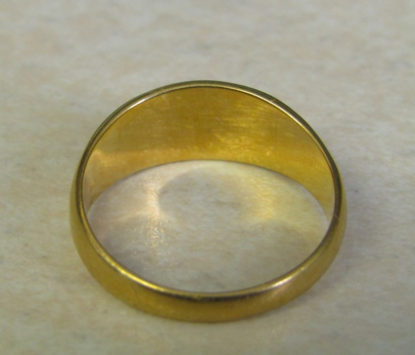 18ct gold turquoise ring size O weight 3.9 g - Image 4 of 11