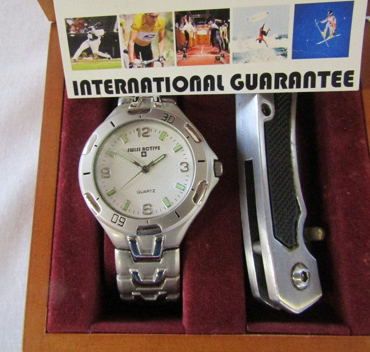 4 boxed Gents wrist watches - Jeep, Swiss active, Rotary and Guess chronograph - Image 3 of 5