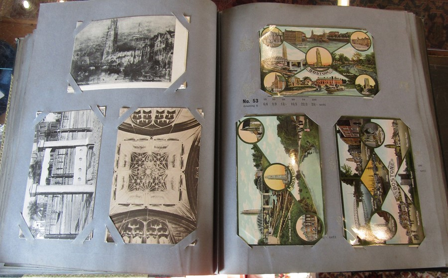 Reliable Series Album of postcards, mainly early Boston & Lincoln - over 200 cards - Image 14 of 14