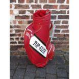 Spalding 'Top-flite' red golf bag (appears unused)