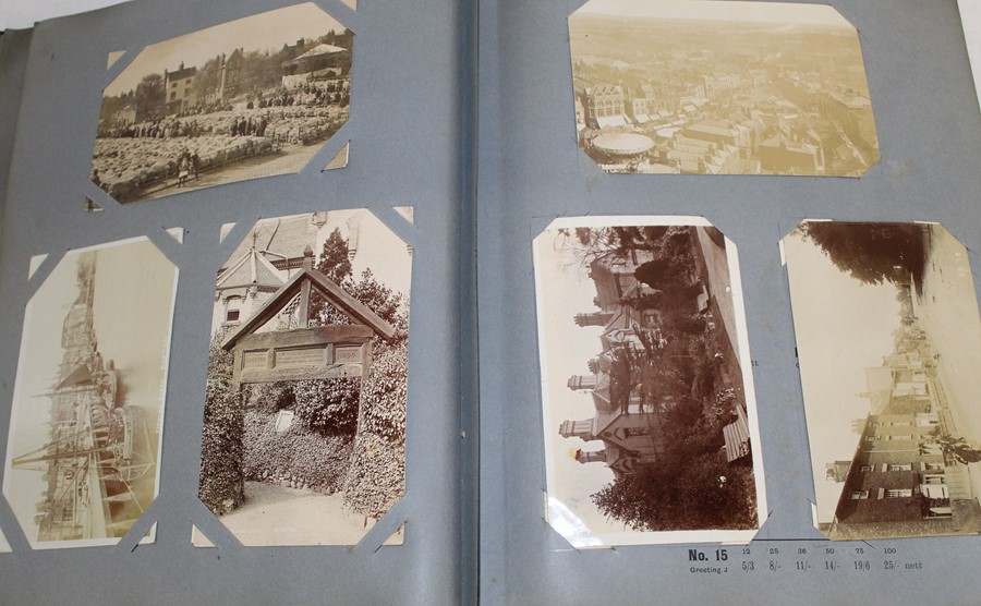 Reliable Series Album of postcards, mainly early Boston & Lincoln - over 200 cards