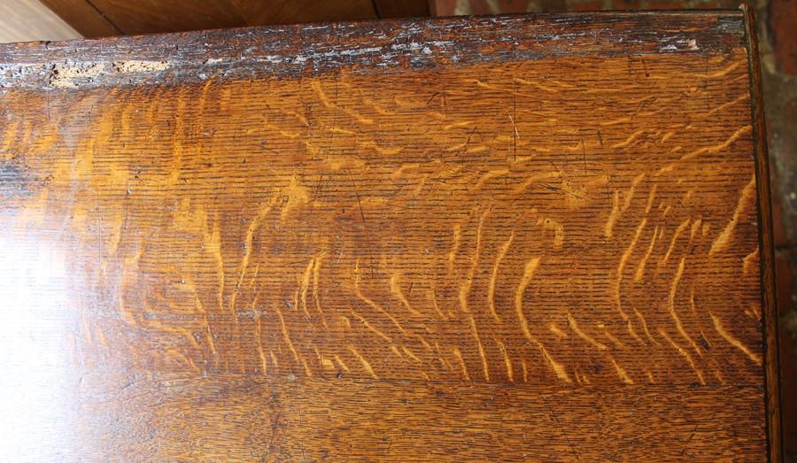 Georgian oak mule chest on bracket feet L 123cm D 55cm Ht 82cm - Image 11 of 18