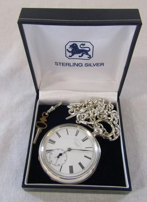 Swiss silver pocket watch, Camerer Kuss & Co 56 New Oxford Street, London, 3 bears mark D 5 cm