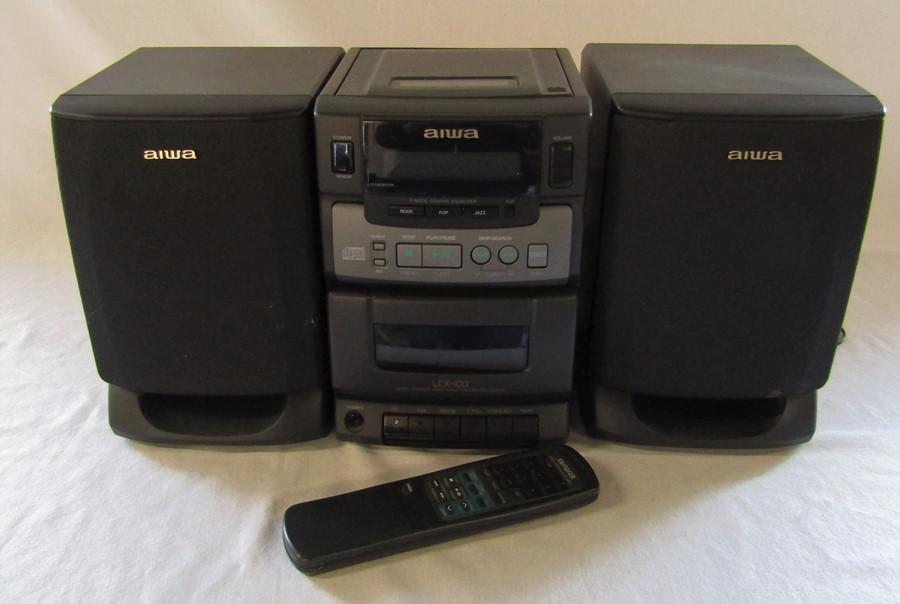 Aiwa LCX-100 micro compact system multi sound processor hifi unit with remote control