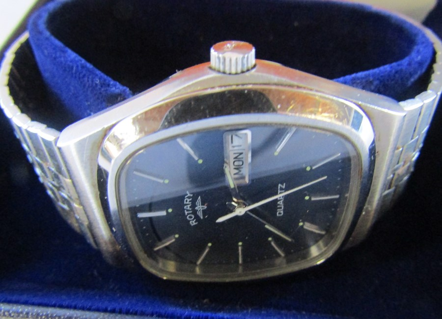 4 boxed Gents wrist watches - Jeep, Swiss active, Rotary and Guess chronograph - Image 4 of 5