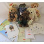 Steiff Bears of the week by Danbury Mint, 7 bears, all with certificates