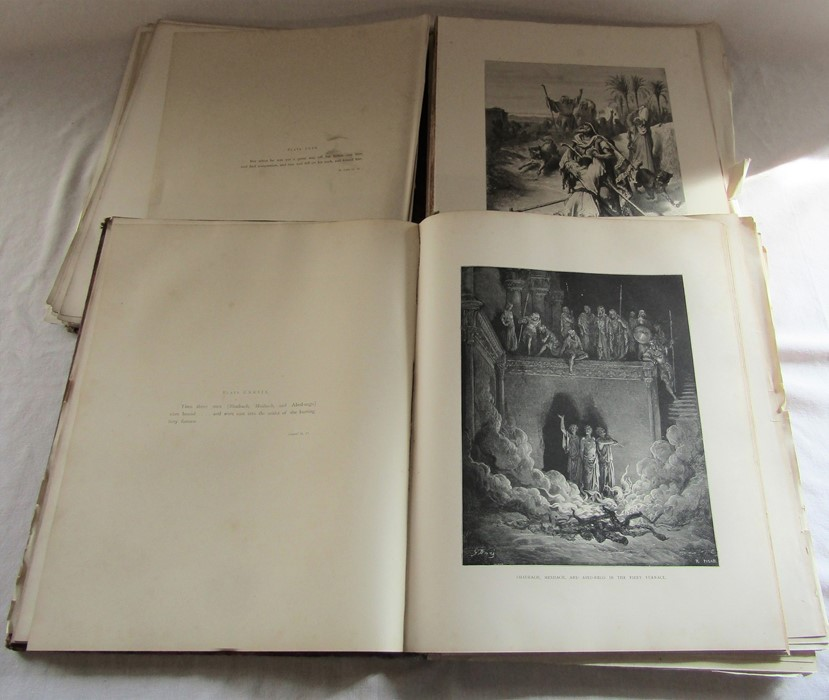 2 volumes of The scripture Gallery of Illustrations from drawings by Gustav Dore (vol 3 and 4) af - Image 2 of 2