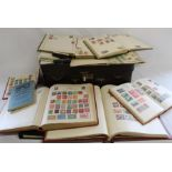 8 albums of World stamps approximately 1935 onward