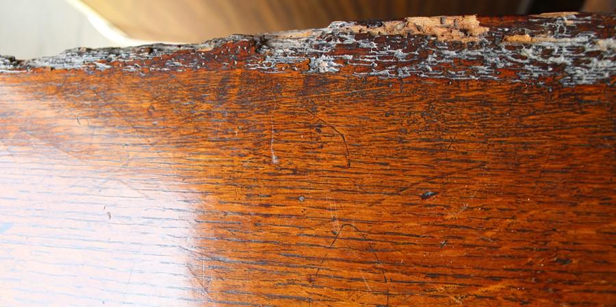 Georgian oak mule chest on bracket feet L 123cm D 55cm Ht 82cm - Image 13 of 18