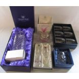 Various boxed crystal and glass ware inc Caithness and The Victoria collection