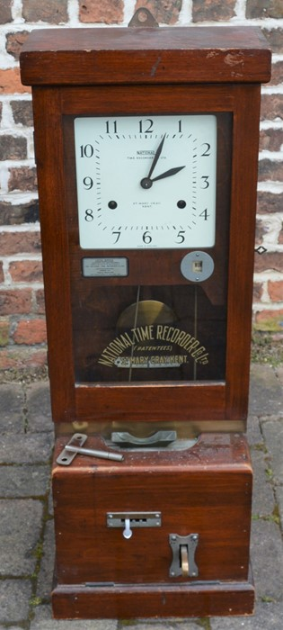 Early 20th century National Time Recorder Co. Ltd clocking in machine originally in the Gas