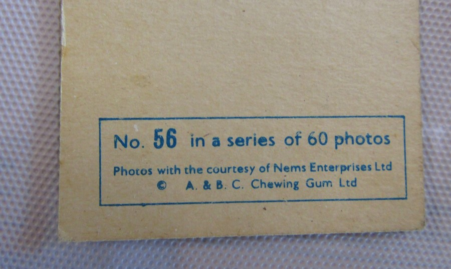 Album containing 59 The Beatles A & B C chewing gum cards with facsimile autographs, sealed The - Image 5 of 5