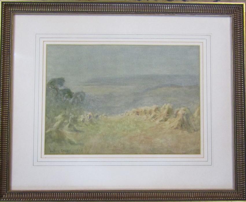 Walter Emsley (1860-1938) framed watercolour landscape signed and dated lower left corner 55 cm x 45