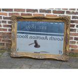 Large ornate gilt framed mirror 111 cm x 80 cm
