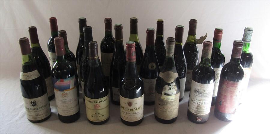 21 bottles of wine inc Chanson 1980 Cote de Beaune Villages, Bourgogne 1999, Bordeaux 1981, Peter