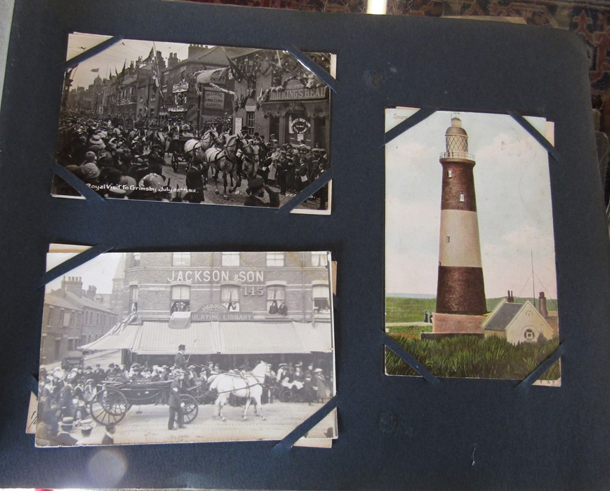 Classic Series Album of postcards mainly Gainsborough, Cleethorpes & Grimsby including Royal Visit - Image 4 of 12