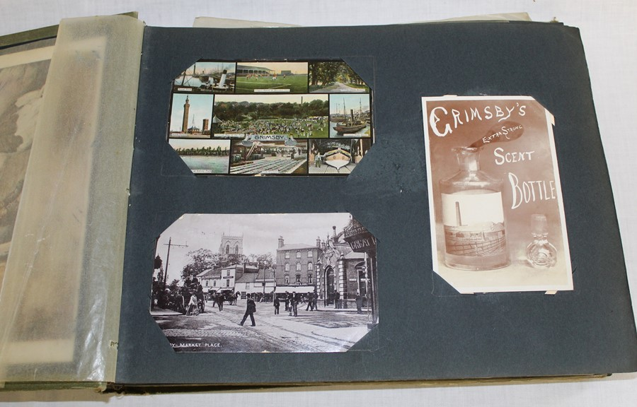 Classic Series Album of postcards mainly Gainsborough, Cleethorpes & Grimsby including Royal Visit