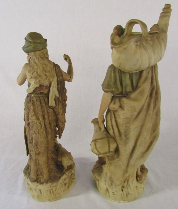 Selection of ceramics inc Royal Dux 1052 water carrier H 41 cm and 136 shepherdess H 37 cm ( - Image 4 of 15