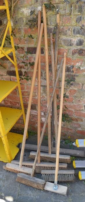 Various yard brooms / brushes