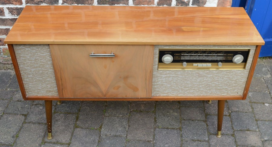 1960's Alba music cabinet *Please note this item is sold as a Collectors Item and has not been