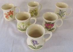 6 Moorcroft floral mugs