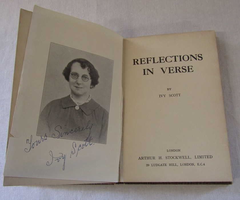 Reflections in Verse by Ivy Scott (188601947) signed by the author, published by Arthur H