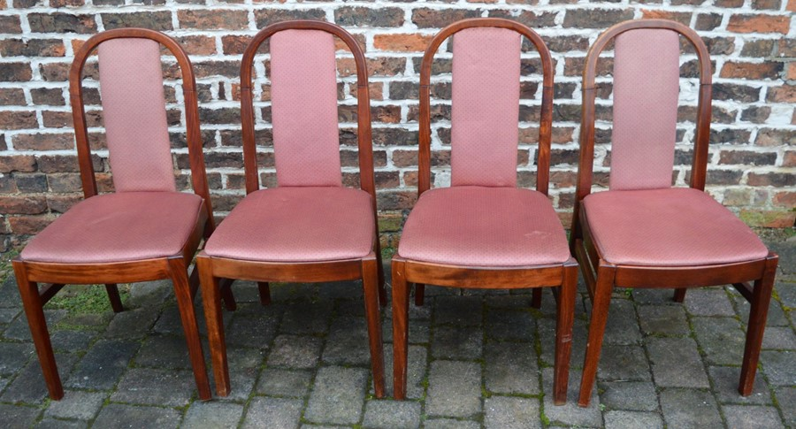 4 1980's dining chairs