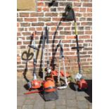 Mitox Select 28 MT with hedge cutter and strimmer attachments, Sovereign petrol strimmer and a