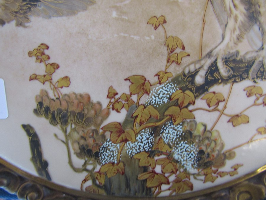 Hand painted wall plaque decorated with owls, with T Goode & Co South Audley Street London Grosvenor - Image 5 of 9