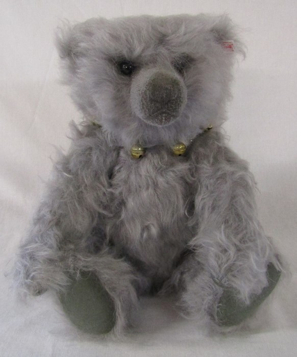 Steiff Bell boy teddy bear, grey, 40 cm, 2008, limited edition 854/2000, with growler, complete with - Image 2 of 2