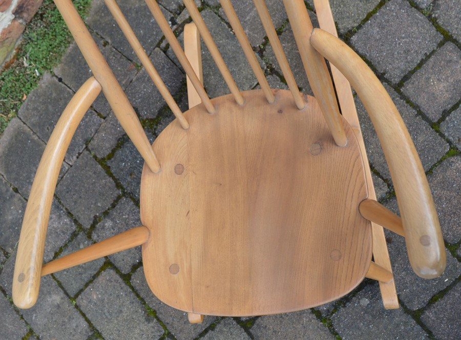 Ercol comb back rocking chair - Image 2 of 2