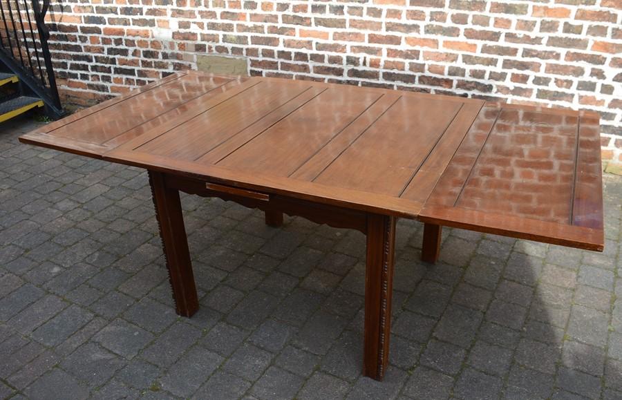 Early 20th century draw leaf table L 205 cm D 106 cm