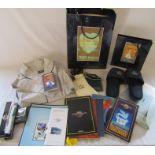 Various memorabilia and ephemera relating to Venice Simplon Orient Express inc bath robe,