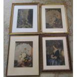 4 framed Baxter prints (largest 59 cm x 49 cm size including frame)