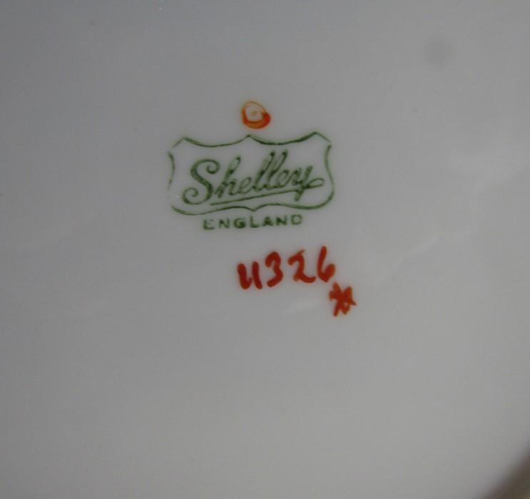 Various Shelley part tea sets inc poppy design c.1930s - Image 2 of 4