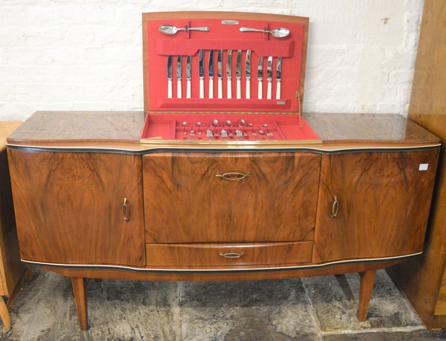 Mid 20th century Beautility sideboard with integral cutlery canteen L 161cm D 52cm H 85cm - Image 2 of 4