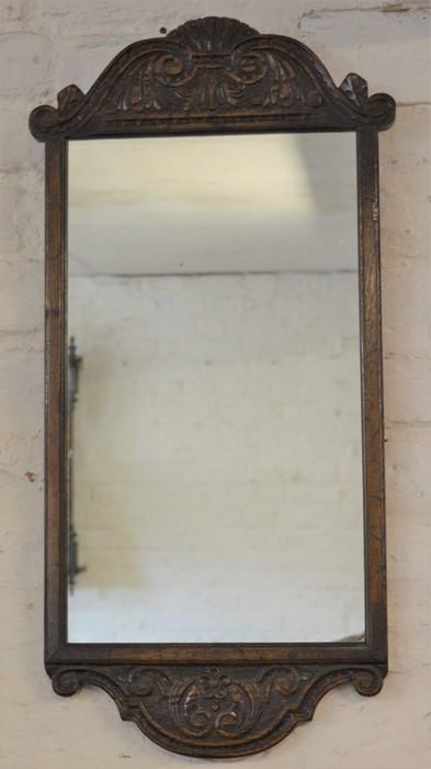 Titchmarsh & Goodwin oak wall mirror Ht 72cm W 33cm
