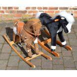 2 children's rocking horses