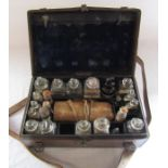 Victorian travelling apothecary box possibly for Veterinarian by Savory and Moore, Chemists to the
