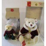 Steiff Christmas teddy bear limited edition 1747/2000 H 30 cm and Steiff Santa's Elf limited edition