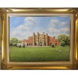 Gilt framed oil on canvas of The Gatehouse, Thornton Abbey by Peter Kenward 1991 75 cm x 59.5 cm (