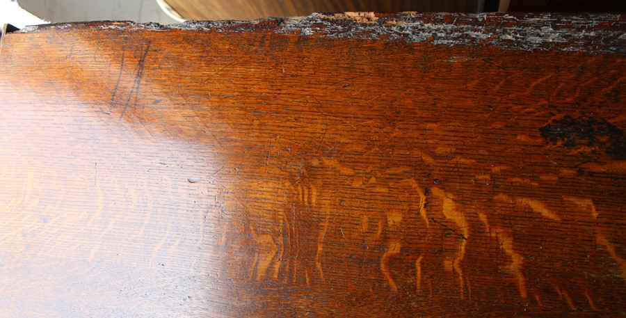 Georgian oak mule chest on bracket feet L 123cm D 55cm Ht 82cm - Image 12 of 18