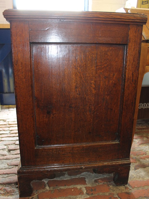 Georgian oak mule chest on bracket feet L 123cm D 55cm Ht 82cm - Image 7 of 18