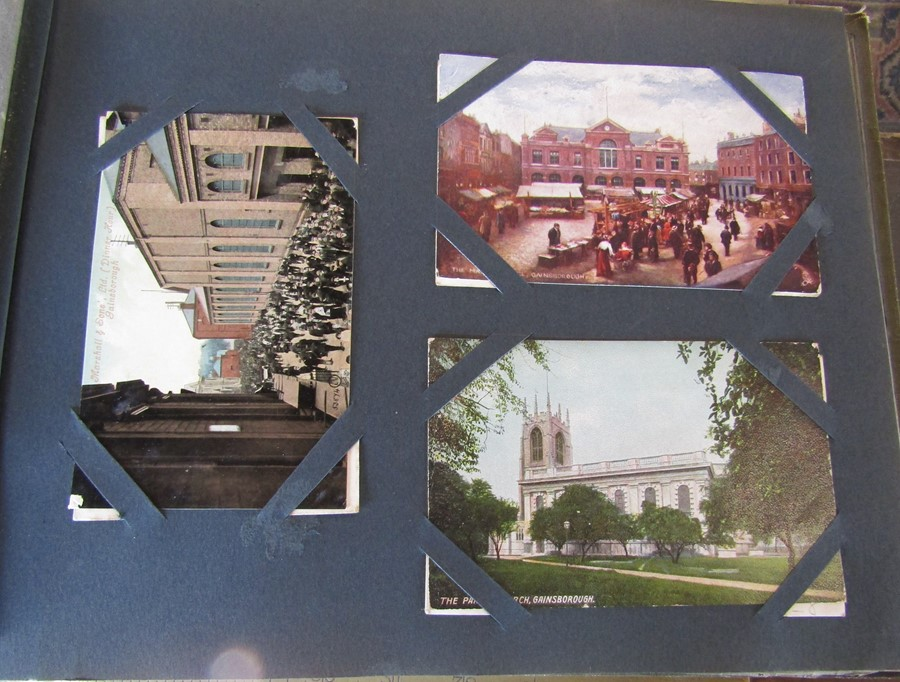 Classic Series Album of postcards mainly Gainsborough, Cleethorpes & Grimsby including Royal Visit - Image 9 of 12
