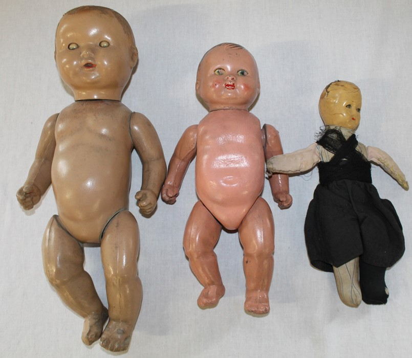 Large Armand Marseille bisque head doll with composition body (1 lower limb un-strung) sleeping eyes - Image 8 of 11