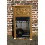 Large gilt framed hall mirror H 138 cm L 78 cm