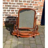 Large Victorian dressing table mirror H 83 cm L 82 cm