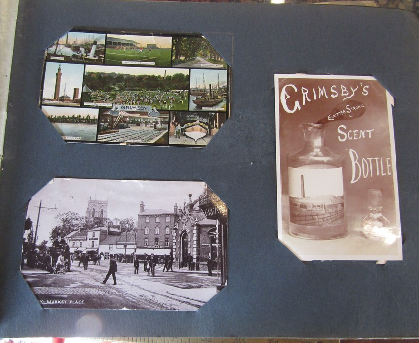 Classic Series Album of postcards mainly Gainsborough, Cleethorpes & Grimsby including Royal Visit - Image 3 of 12