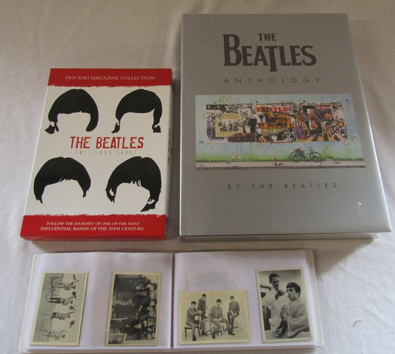 Album containing 59 The Beatles A & B C chewing gum cards with facsimile autographs, sealed The
